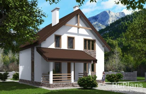 Дом 11,96 x 9,72
