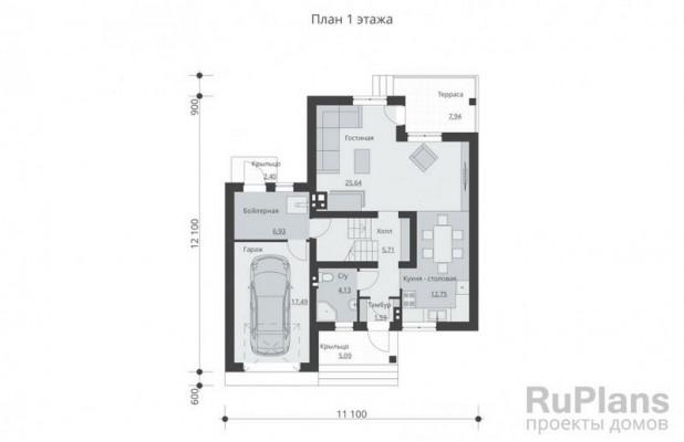 Дом 11,1 x 12,1