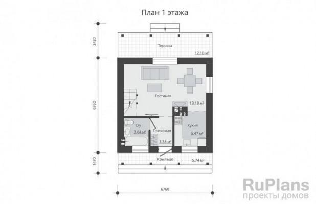 Дом 10,65 x 6,76