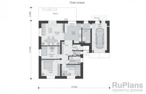 Дом 15,02 x 12,32