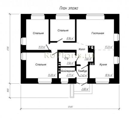 Дом 12,48 x 8,78