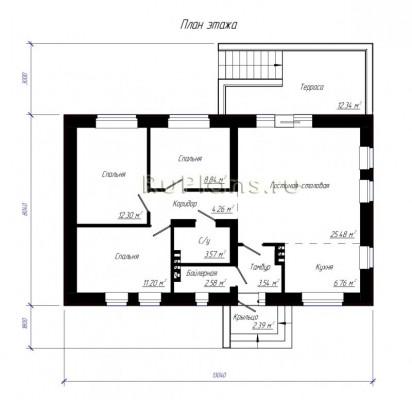 Дом 13,04 x 8,04