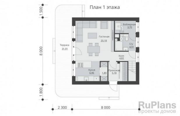 Дом 8 x 8