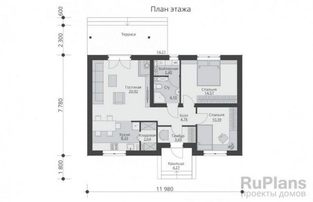 Дом 7,78 x 11,98