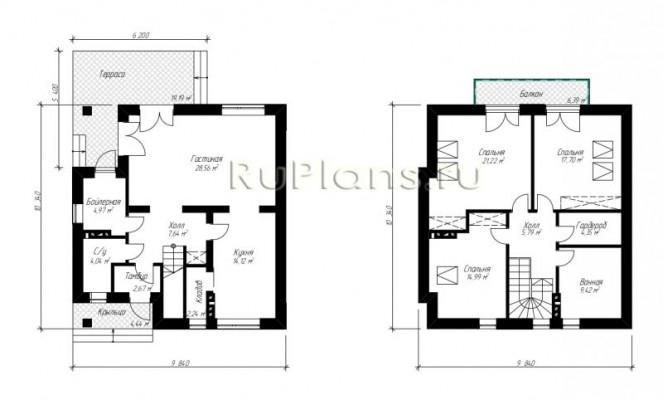 Дом 9,84 x 10,34