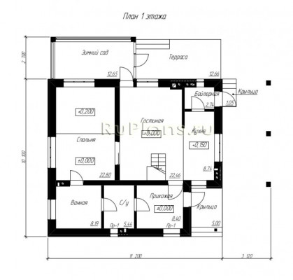 Дом 10,1 x 11,2