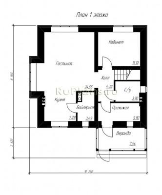 Дом 10,26 x 8,96