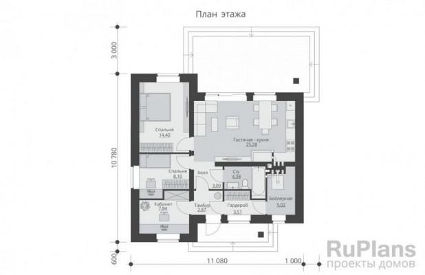 Дом 10,78 x 10,78