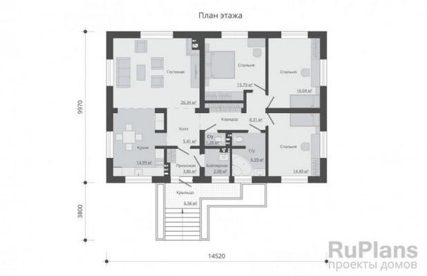 Дом 14,52 x 9,97
