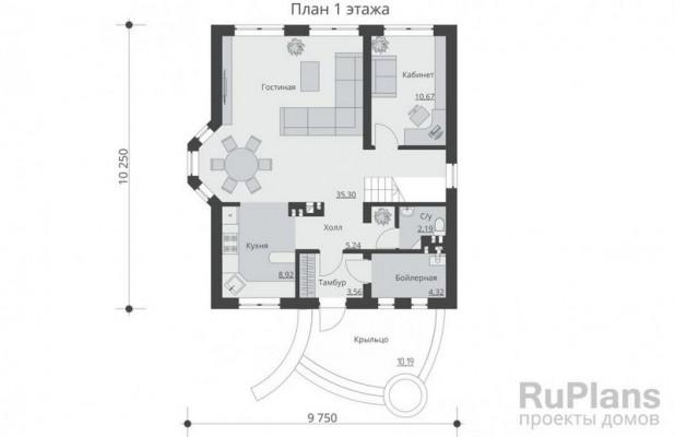 Дом 10,25 x 9,75