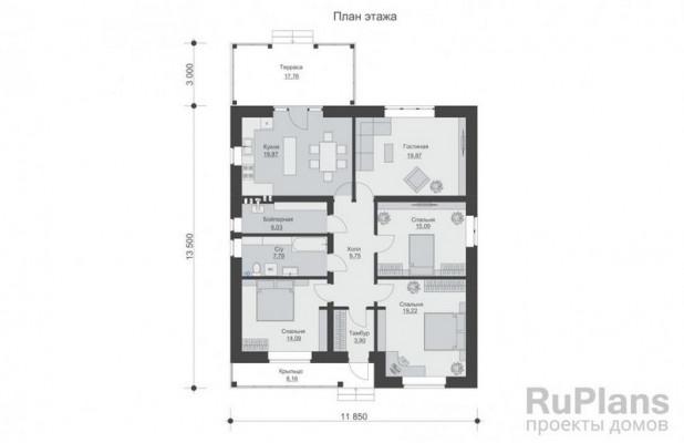 Дом 16,5 x 11,85