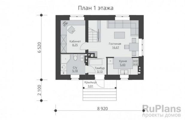 Дом 6,52 x 8,92