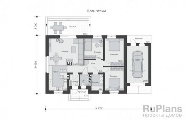 Дом 17,07 x 12,42