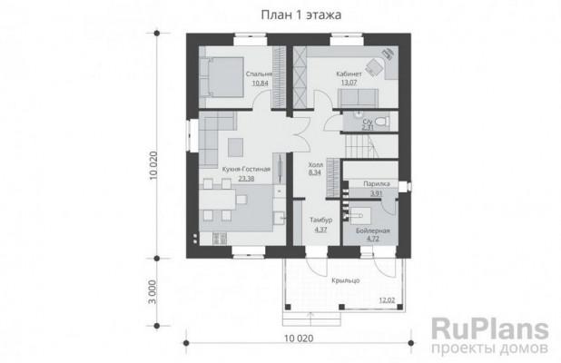 Дом 10,02 x 10,02
