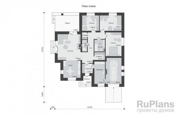 Дом 14,72 x 15,72