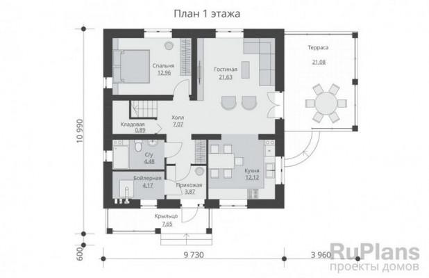 Дом 10,99 x 13,69
