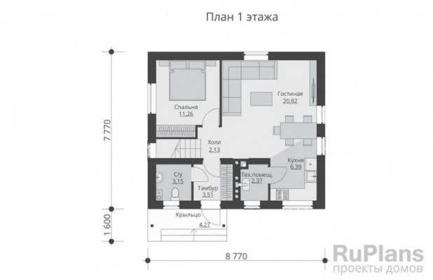 Дом 7,77 x 8,77