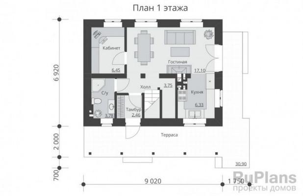 Дом 8,92 x 9,02