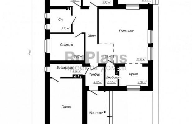 Дом 11,48 x 17,88