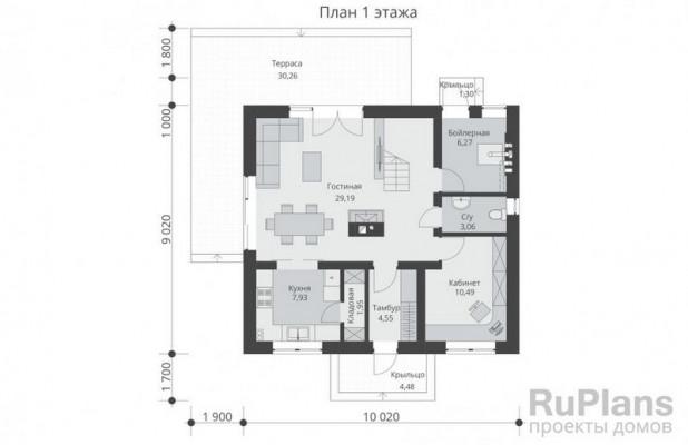Дом 9,02 x 10,02