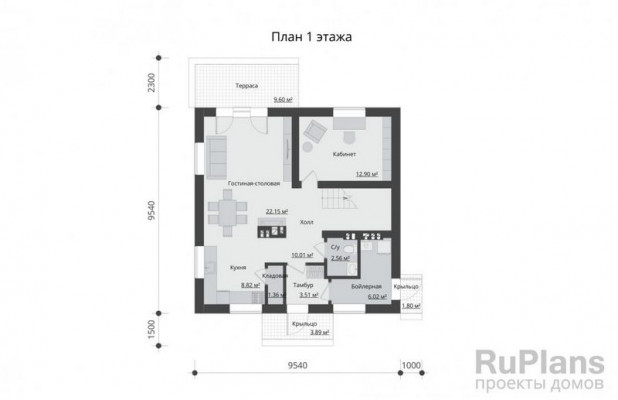 Дом 9,5 x 9,5