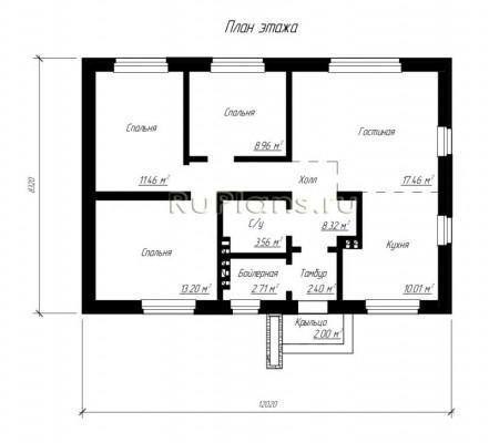 Дом 12,02 x 8,32