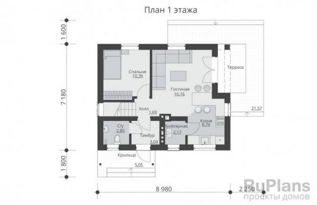 Дом 7,18 x 8,98