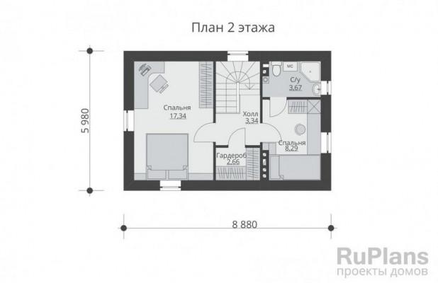 Дом 7,88 x 8,88