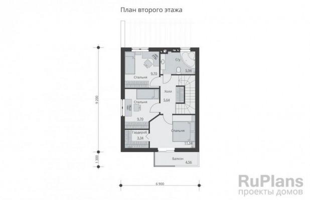 Дом 9,2 x 6,9