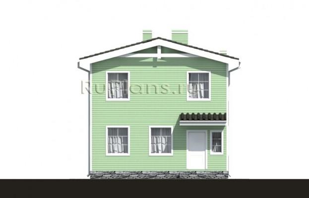 Дом 7,68 x 6,68