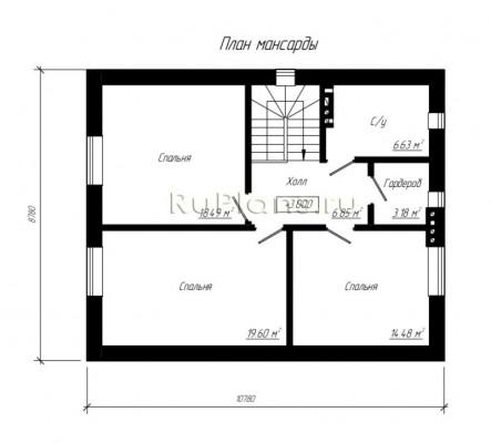 Дом 10,78 x 8,78