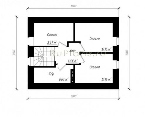 Дом 8,86 x 7,06