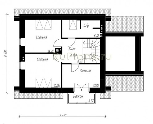 Дом 8,68 x 13,38