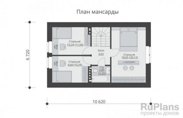 Дом 6,72 x 10,62